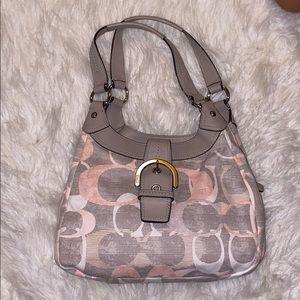 Coach soho optic lynn signature hobo shoulder bag